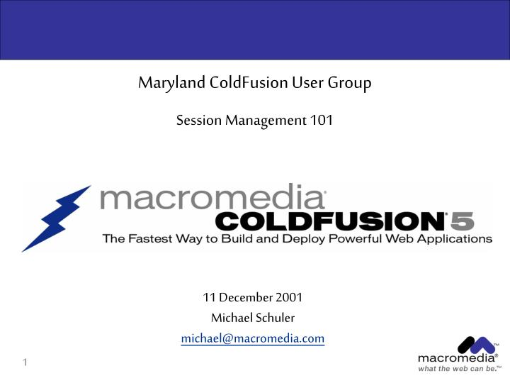 Maryland ColdFusion User Group