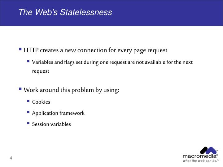 The Web's Statelessness