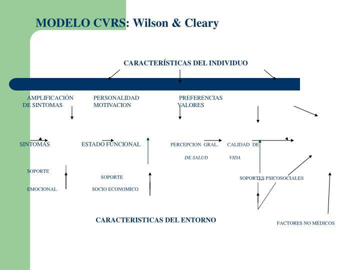 MODELO CVRS: Wilson & Cleary