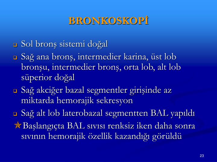 BRONKOSKOPİ