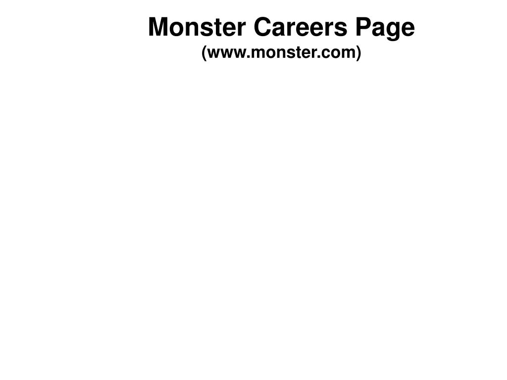 Monster Careers Page