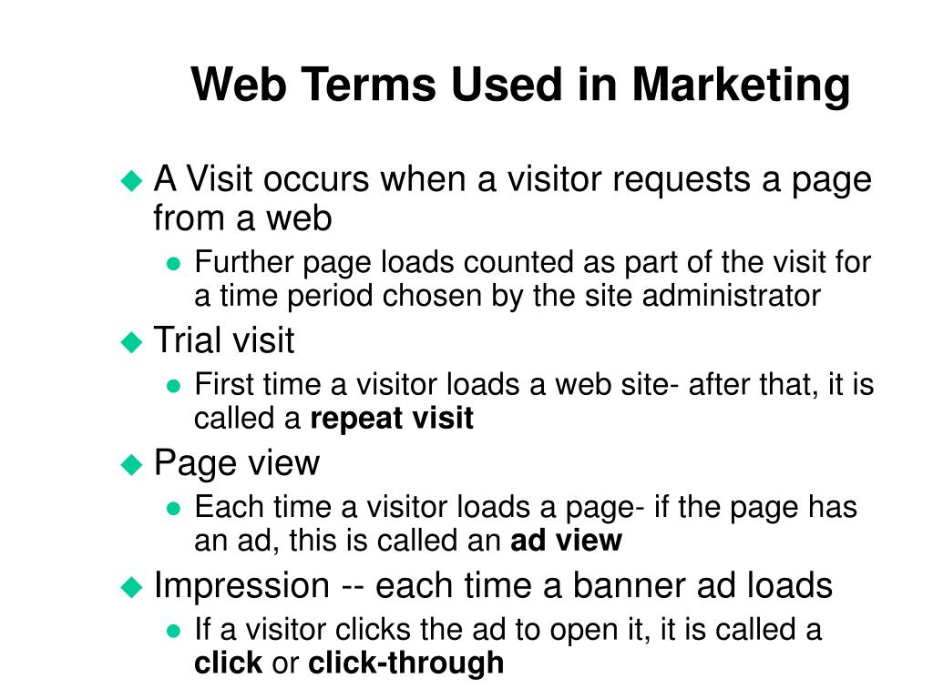Web Terms Used in Marketing