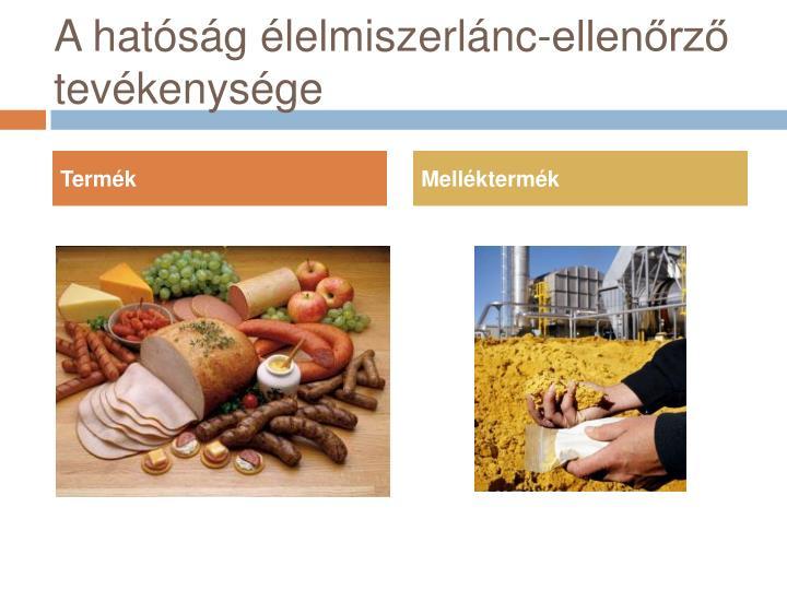 A hatóság élelmiszerlánc-ellenőrző tevékenysége
