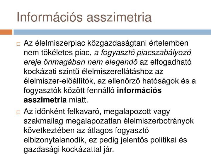 Információs asszimetria