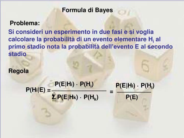 Formula di Bayes