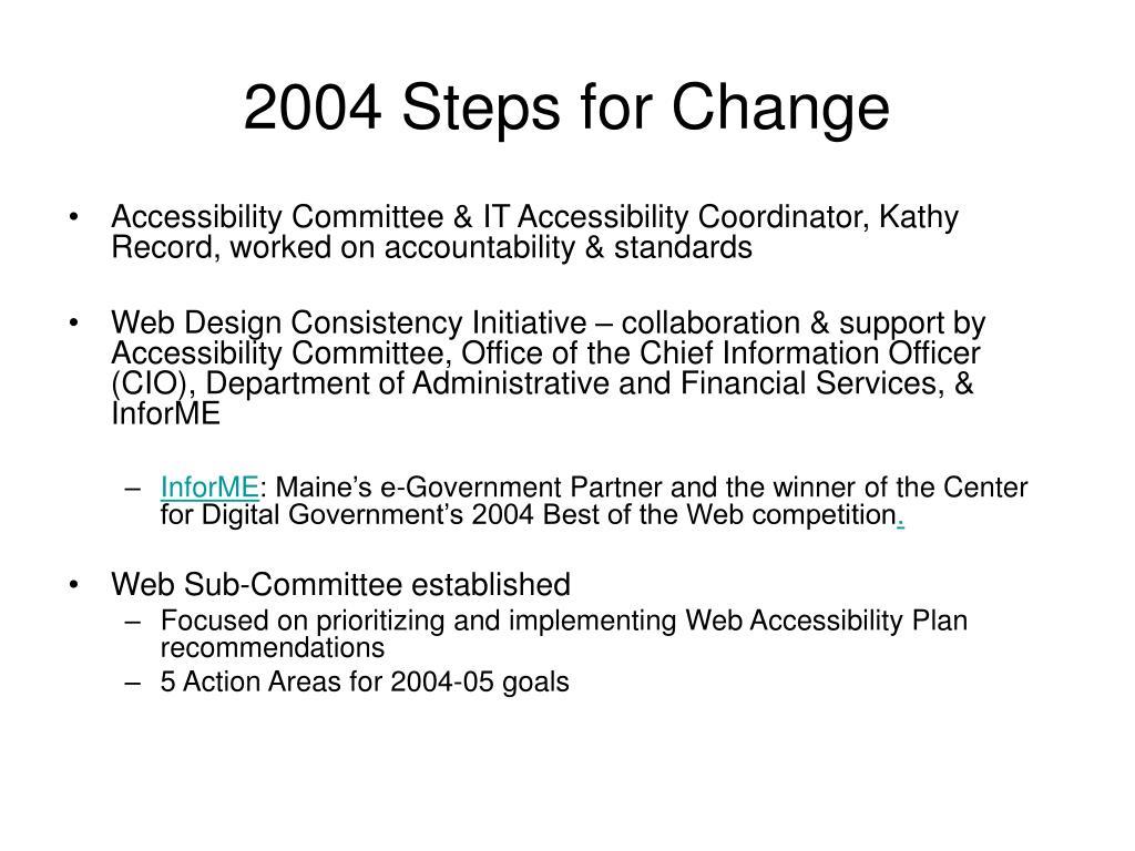 2004 Steps for Change