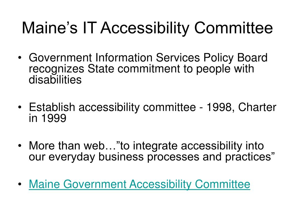 Maine's IT Accessibility Committee