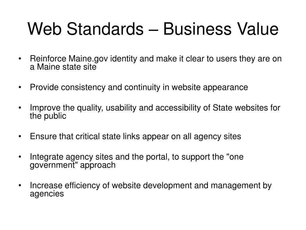 Web Standards – Business Value