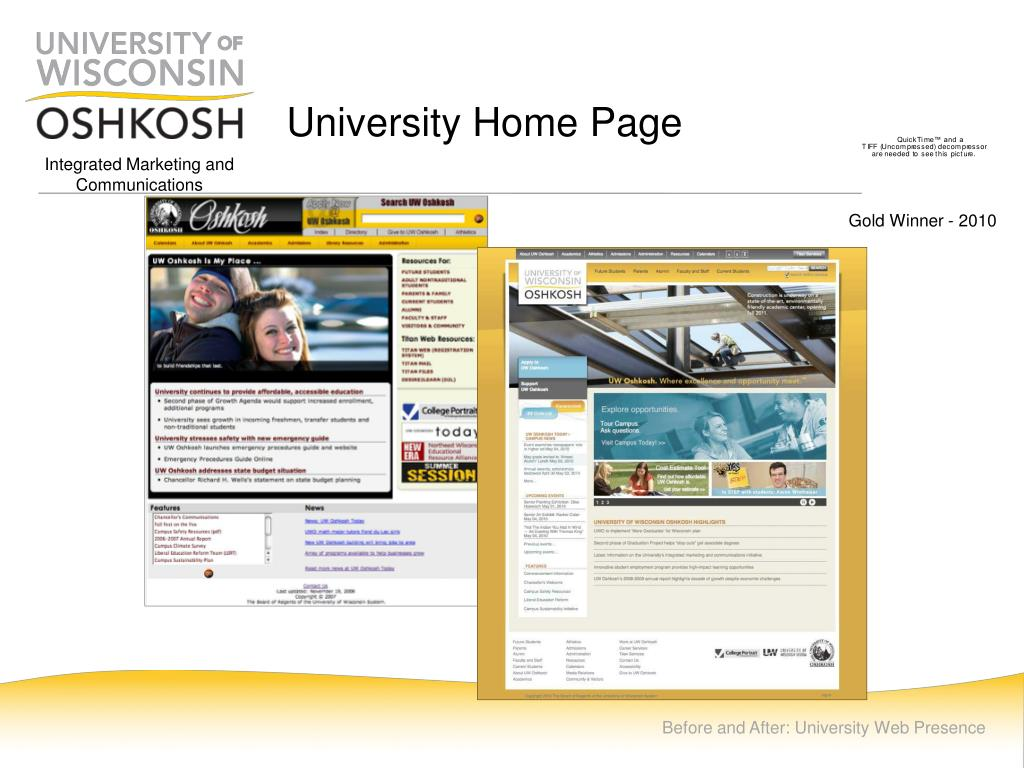 University Home Page