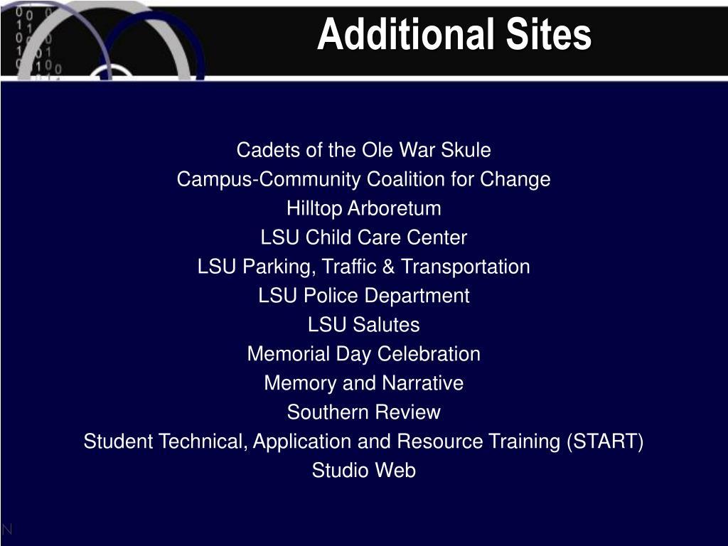 Additional Sites