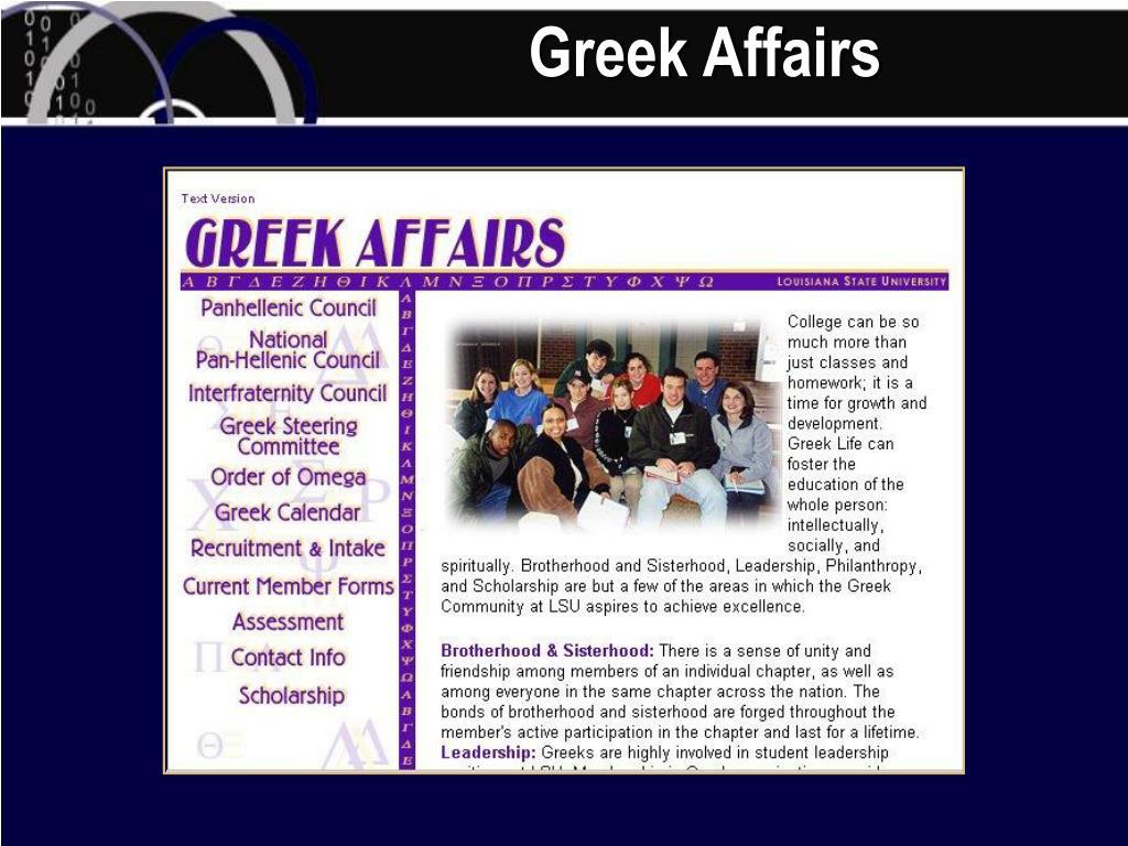 Greek Affairs
