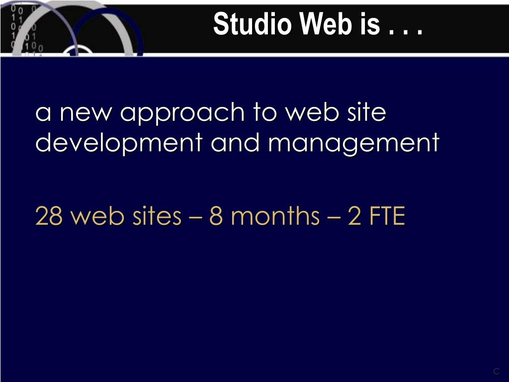 Studio Web is . . .