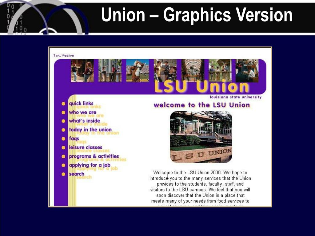 Union – Graphics Version