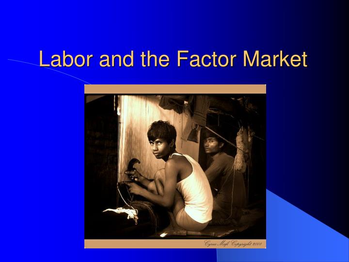 Labor and the factor market