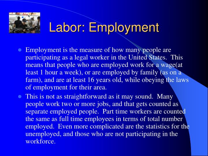 Labor: Employment
