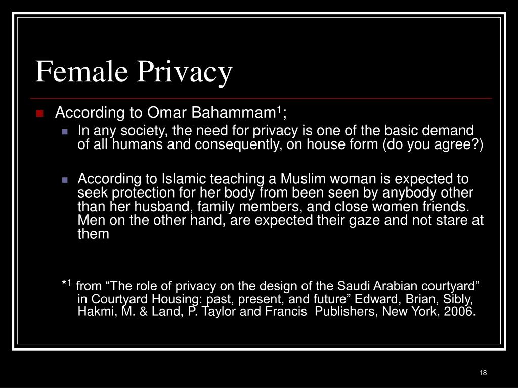 Female Privacy