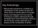 guy petherbridge
