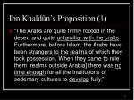 ibn khald n s proposition 1