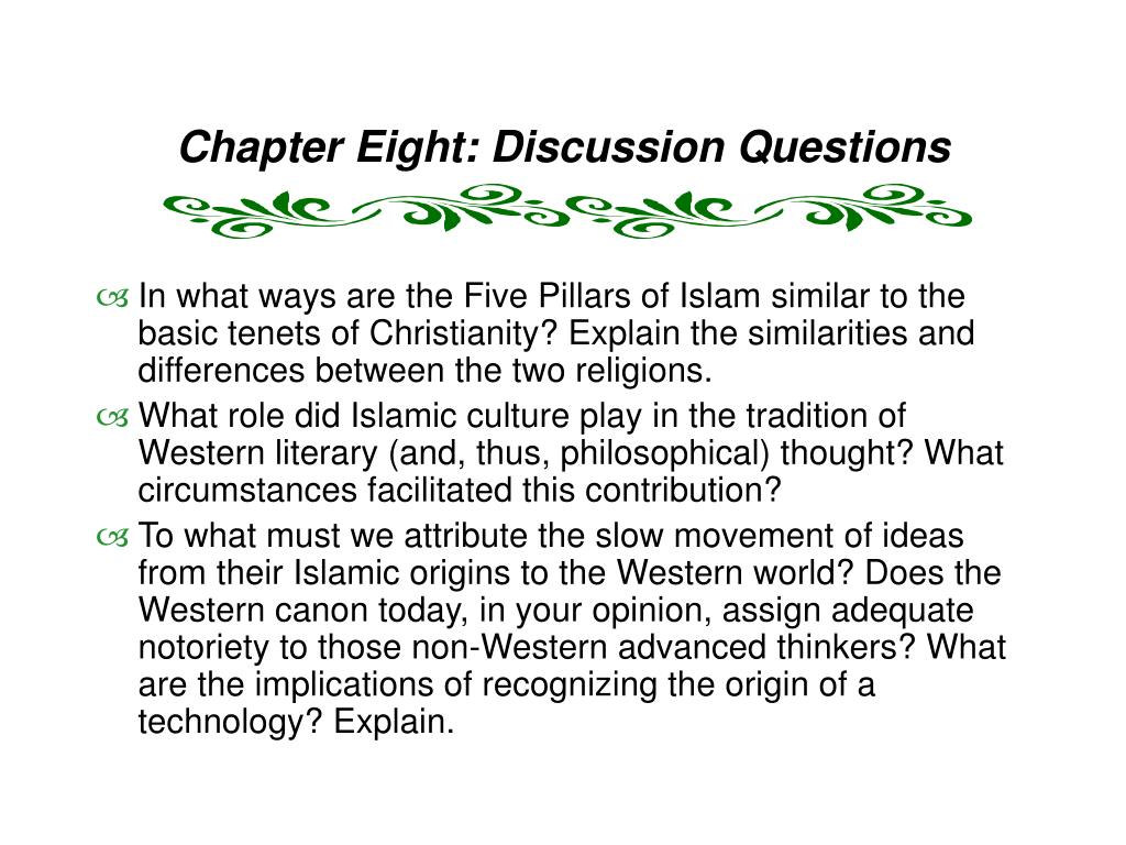 Chapter Eight: Discussion Questions