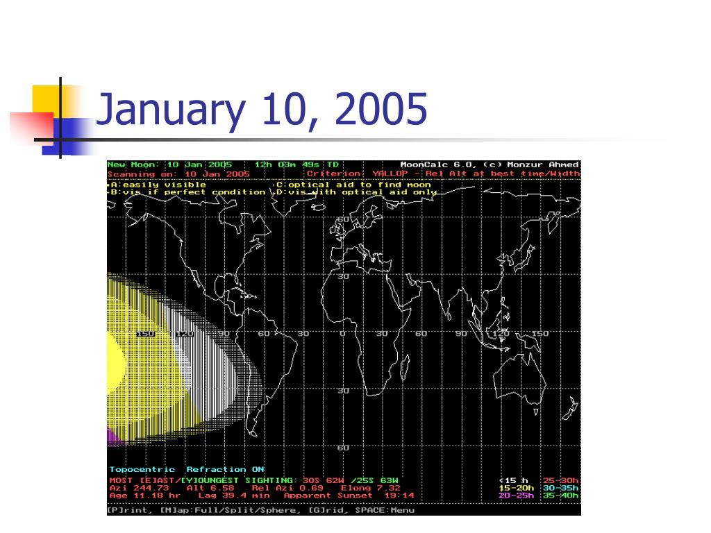 January 10, 2005