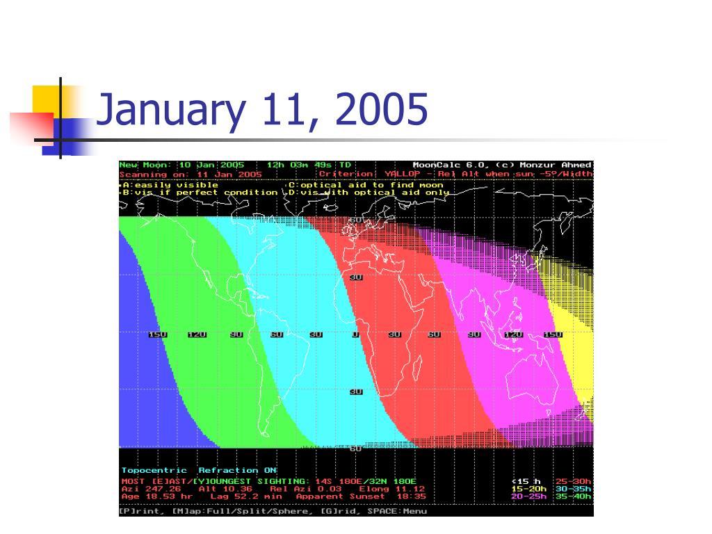 January 11, 2005