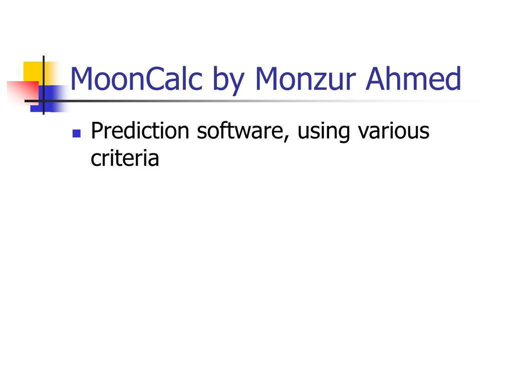 MoonCalc by Monzur Ahmed
