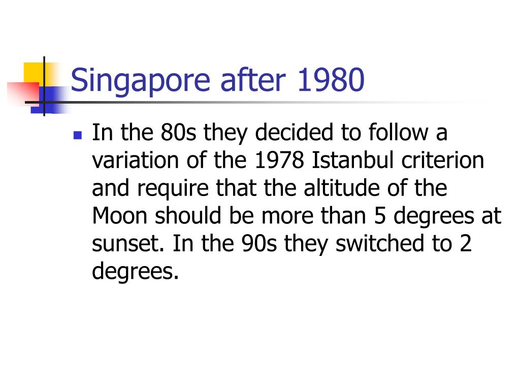 Singapore after 1980