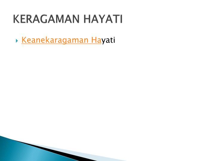 KERAGAMAN HAYATI