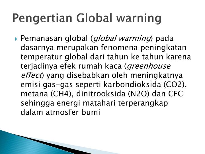 Pengertian Global warning