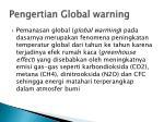 pengertian global warning
