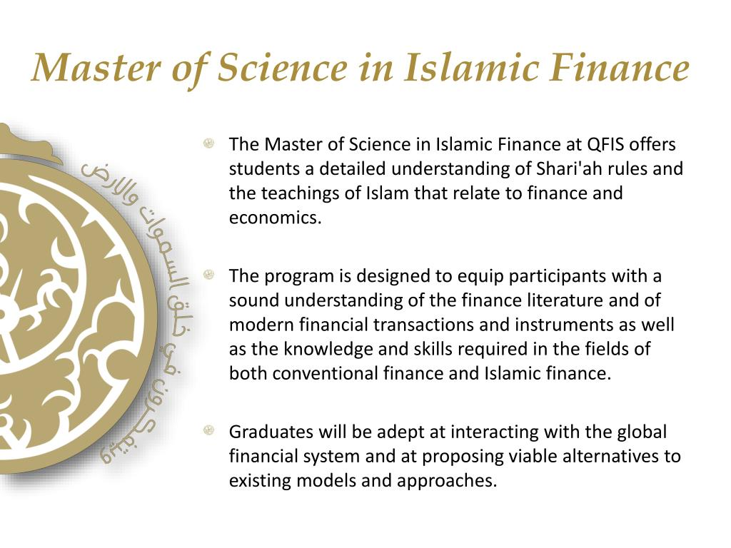 Master of Science in Islamic Finance
