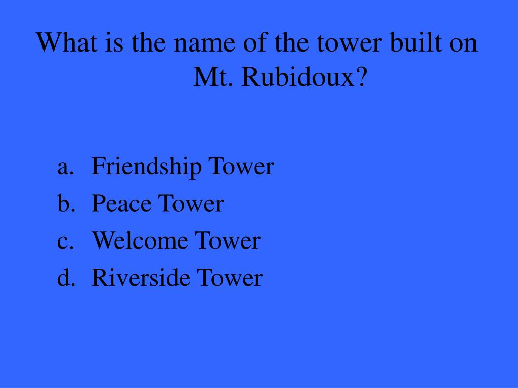What is the name of the tower built on Mt. Rubidoux?