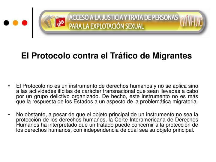 El Protocolo contra el Tráfico de Migrantes