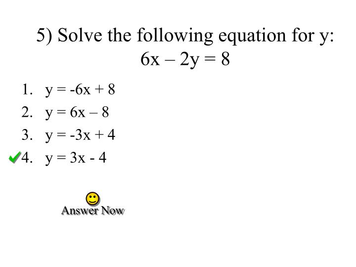 By Drawing The Line Y Solve The Equations : Ppt complete a table for linear equation and graph the