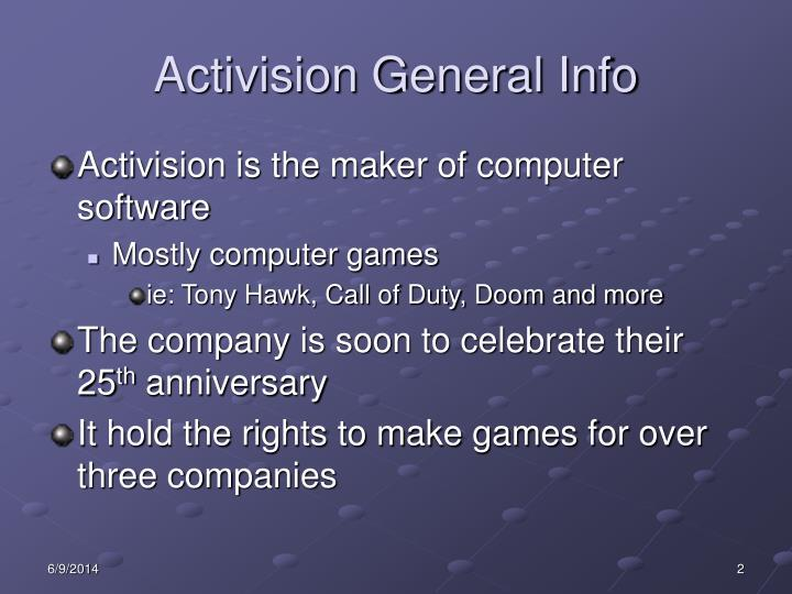 Activision general info