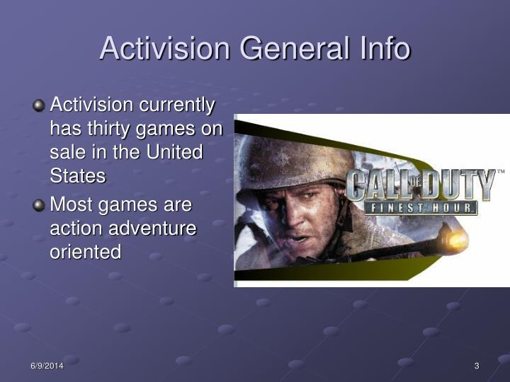 Activision general info1