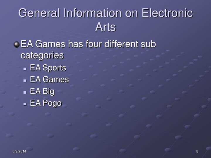 General Information on Electronic Arts