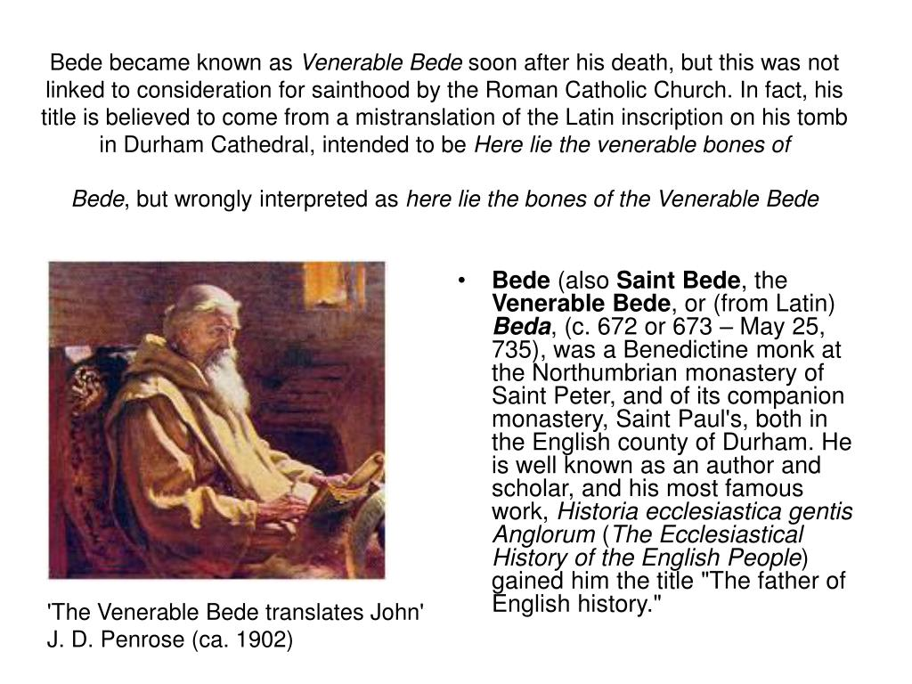 Bede became known as