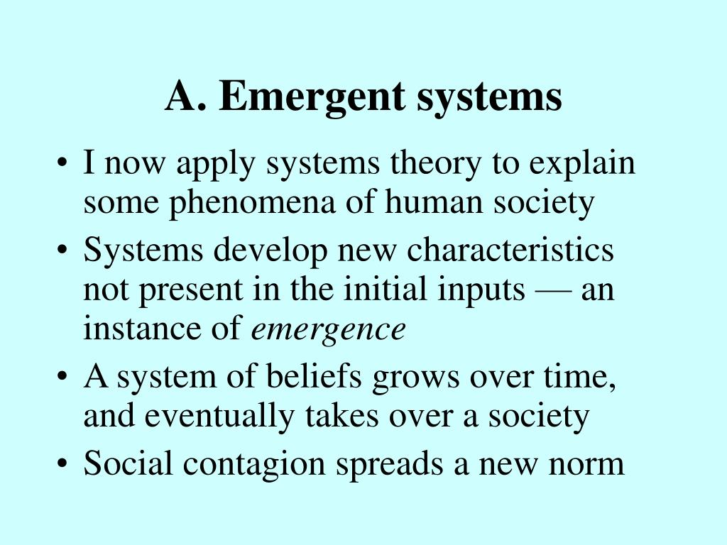A. Emergent systems