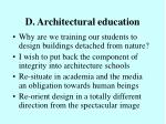 d architectural education