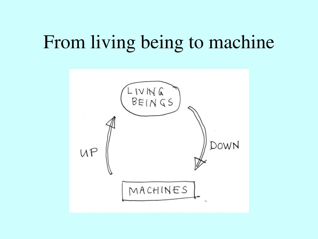 From living being to machine