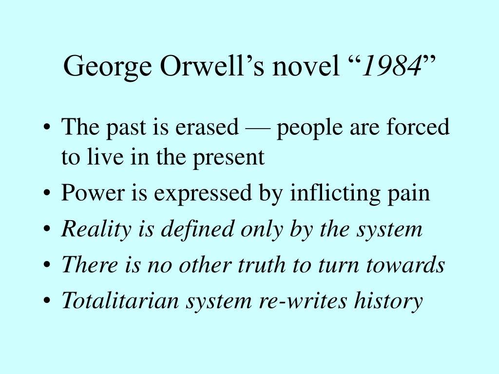 """George Orwell's novel """""""