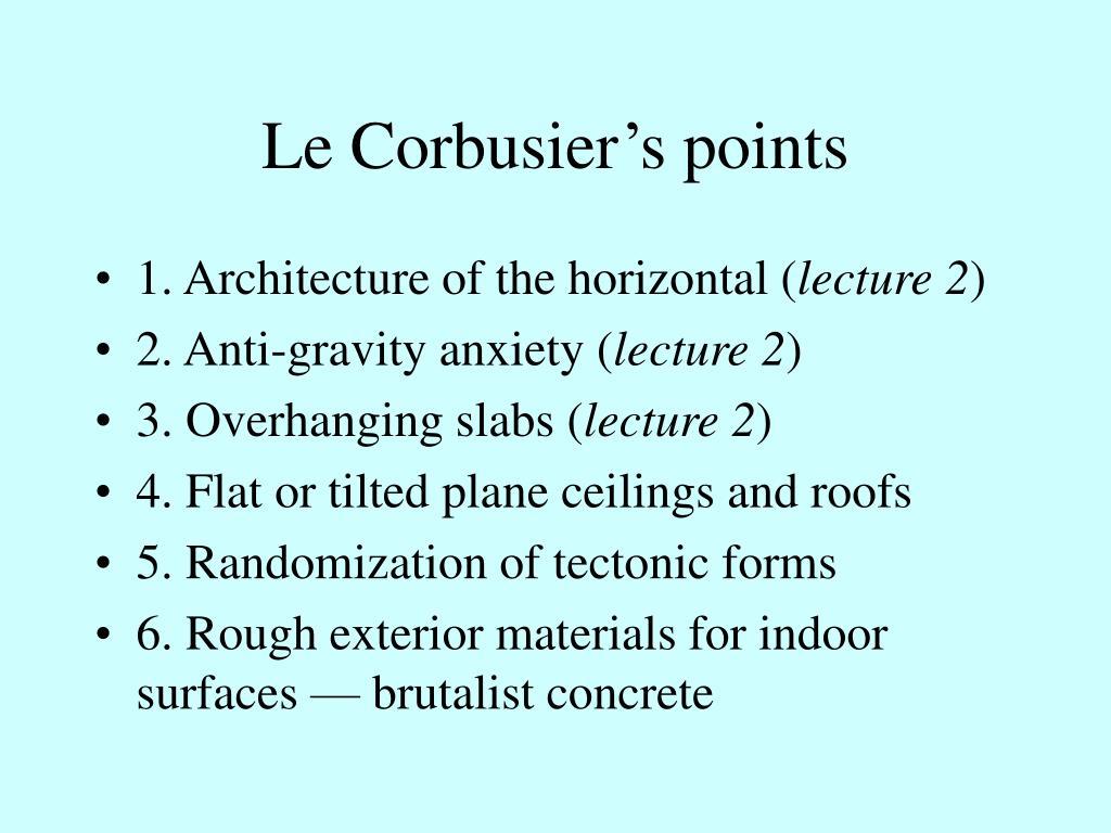 Le Corbusier's points