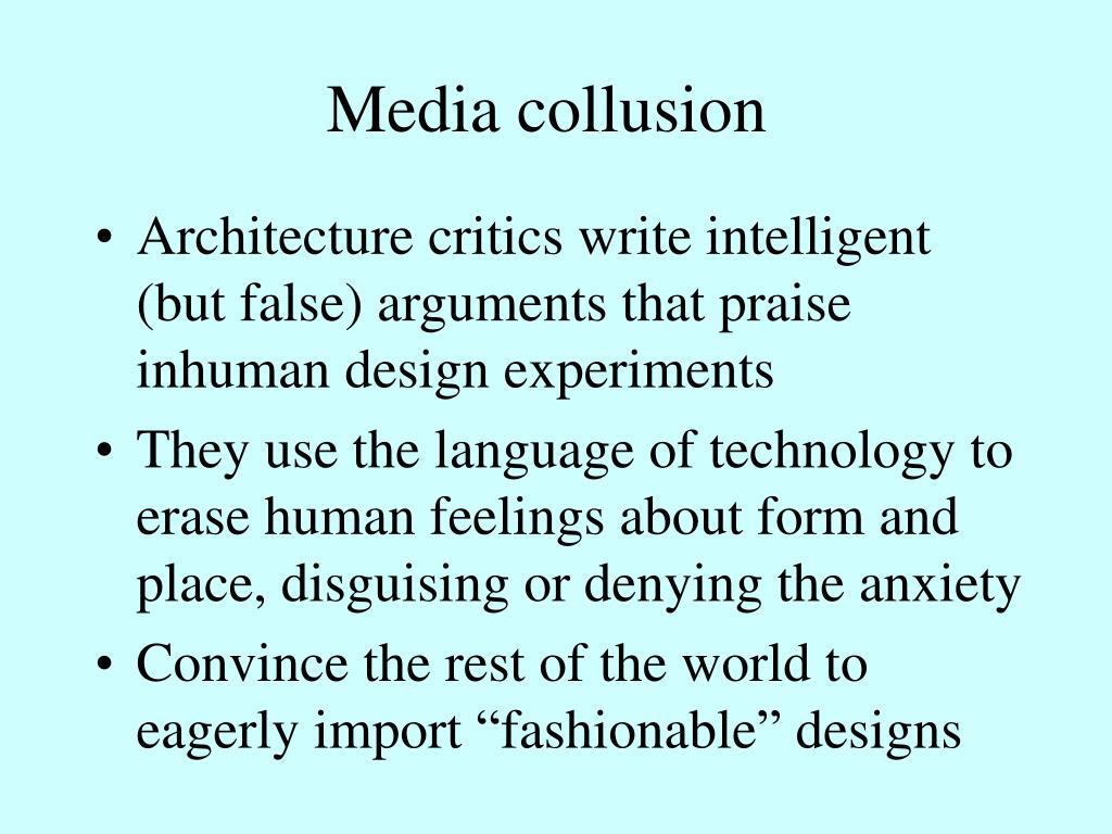 Media collusion