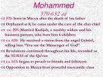 mohammed 570 632 ad