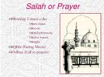 salah or prayer