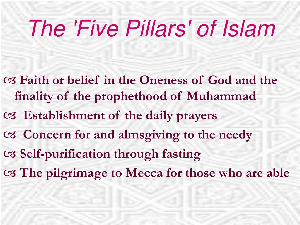 The 'Five Pillars' of Islam