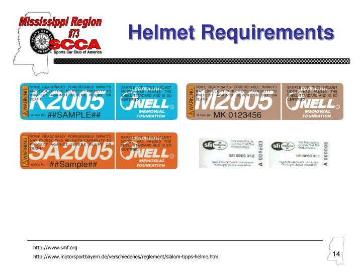 Helmet Requirements