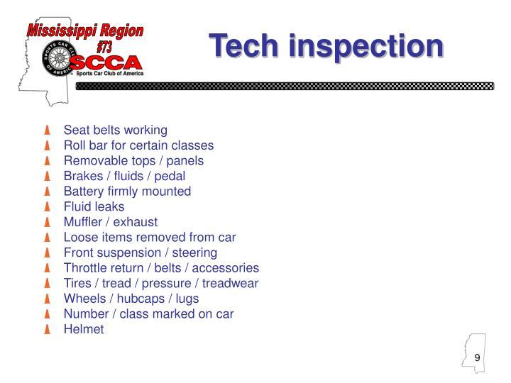 Tech inspection