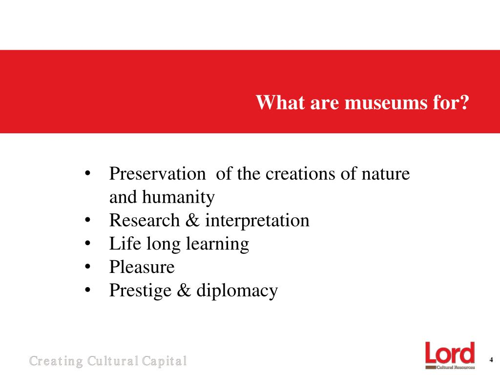 What are museums for?